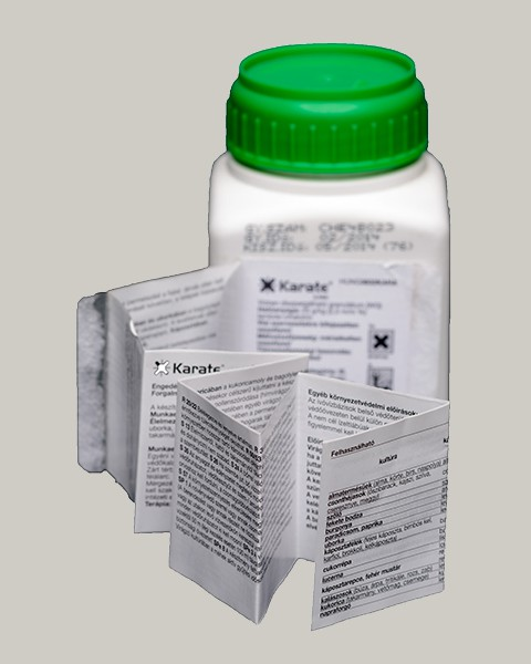 Fold-out label