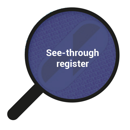 See-through register