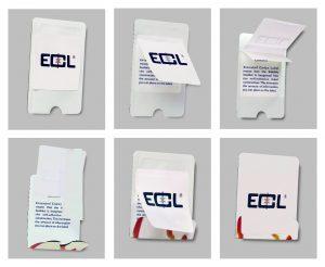 Több funkciós tasakzáró ECL® címke
